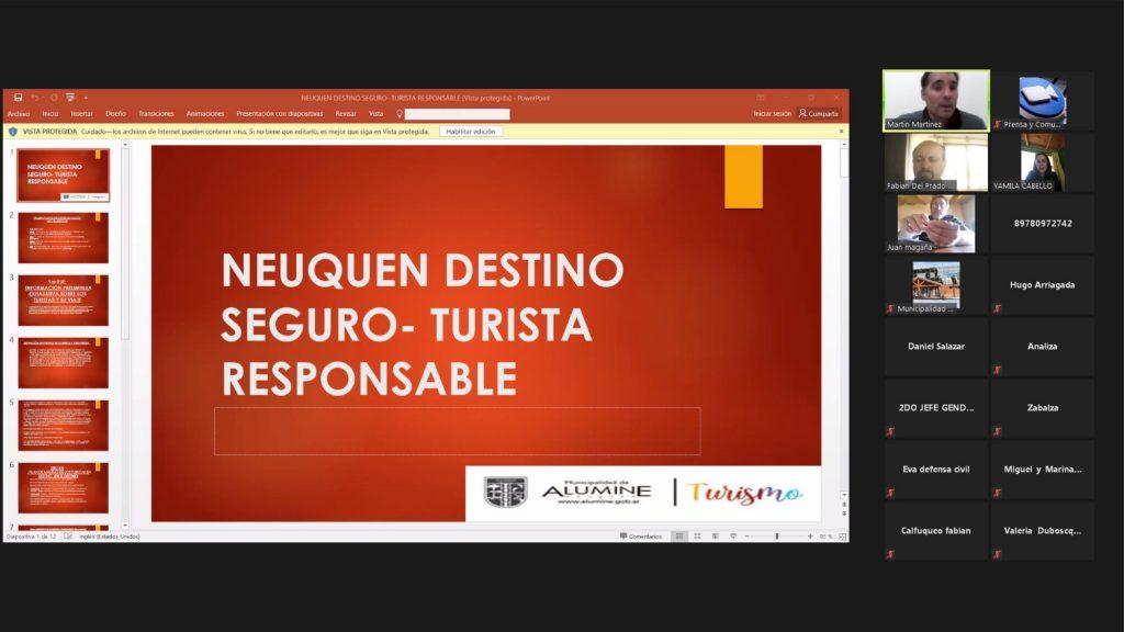 La Corporación Interestadual Pulmarí participó de una reunión virtual para la presentación del plan sanitario de reactivación turística para la próxima temporada de verano 2020-2021