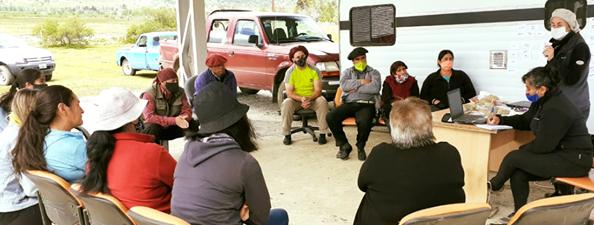 La Corporación Interestadual Pulmarí acompañó la conformación del grupo de mujeres de agricultura familiar y campesina de Pampa Inda