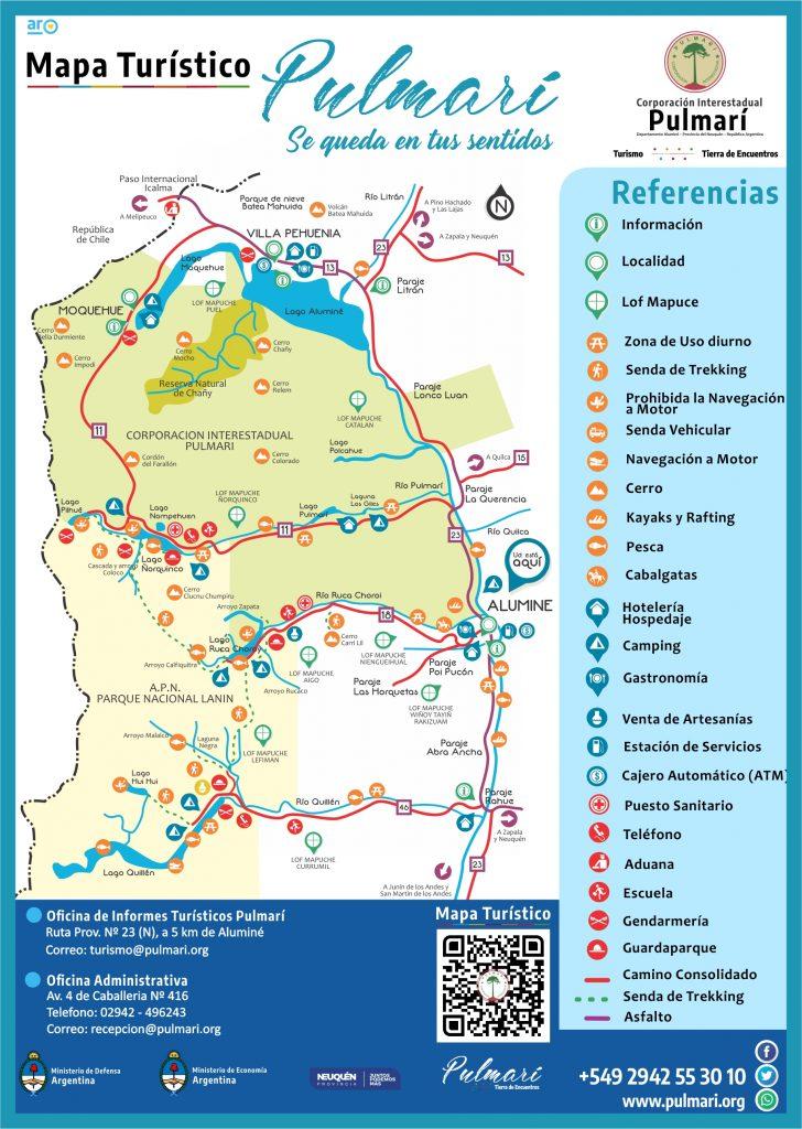 Mapa Turístico Corporación Interestadual Pulmarí