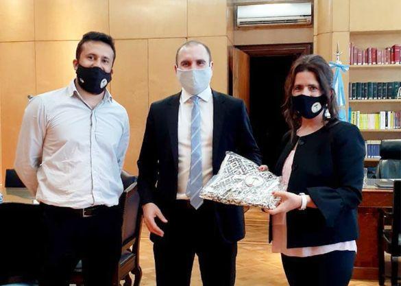 Las nuevas autoridades de Pulmarí se reunieron con miembros del Ministerio de Economía nacional