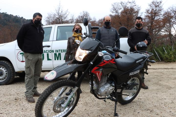 Nueva motocicleta Oficina CIP Moquehue
