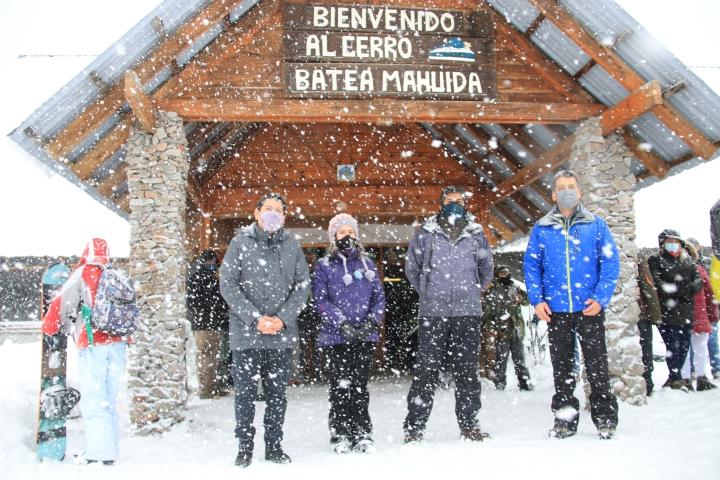 Autoridades de la CIP participaron de la apertura de la temporada Invernal 2021 en Batea Mahuida